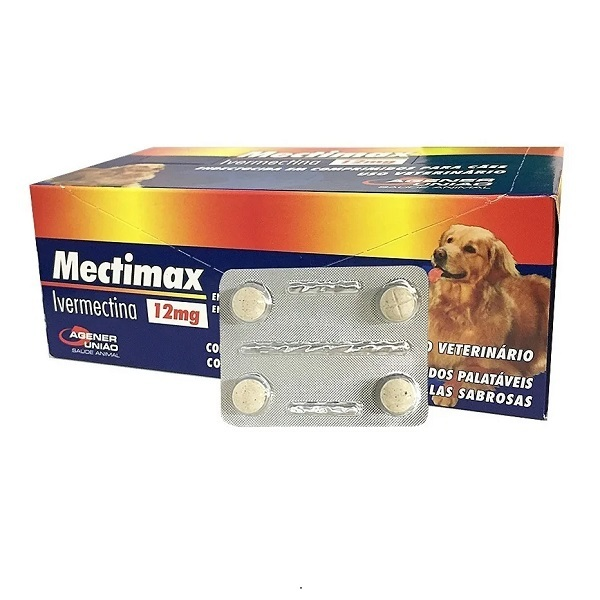 Vermífugo mectimax 12mg cartela com 4 comprimidos