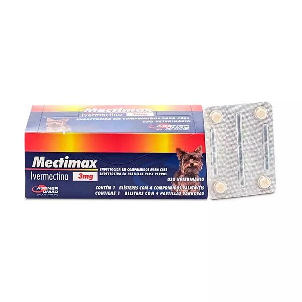 Vermífugo mectimax 3mg cartela com 4 comprimidos