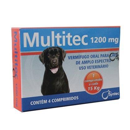 Vermífugo syntec multitec 1200mg para cães até 15kg
