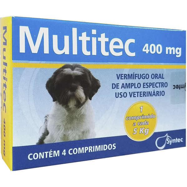 Vermífugo syntec multitec 400mg para cães até 5kg