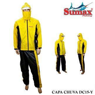Capa de Chuva Sumax DC15-Y Amarela e Preto - Usado