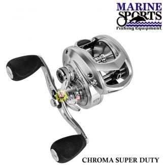 Carretilha Marine Sports Chroma Super Duty Shil 8.3 Esquerda