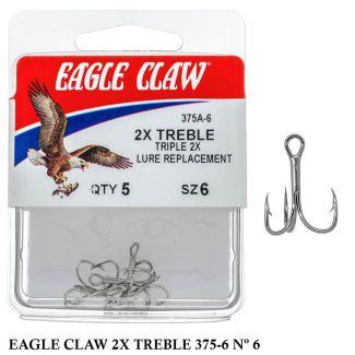 Garateia Eagle Claw 2X Treble 375 A - Nº6 2x