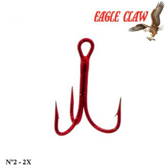 Garateia Eagle Claw Lazer Sharp - Nº 2 - 2x - Cor Red