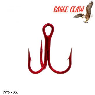 Garateia Eagle Claw Lazer Sharp Modelo 954 - Nº 6 - 3x - Cor Red