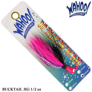 Isca Wahoo Bucktail Jig Pink/purple/blk Tinsel |14,0 gr