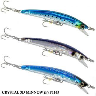 Isca Yo Zuri Crystal 3D Minnow (F) F1145 | 9,0 cm - 7,0 gr