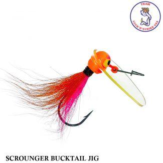 Jig Luck e Strike Scrounger Bucktail Jig PNK/ORG | 8,0 gr