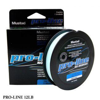 Linha Monofilamento Mustad Pro-line 12LB 0,30mm 250 mts