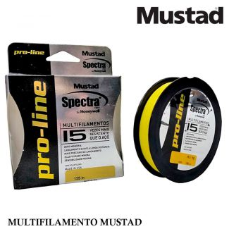 Linha Mustad Pro-line Spectra 40lb 8 Fios 135 Mts Amarela