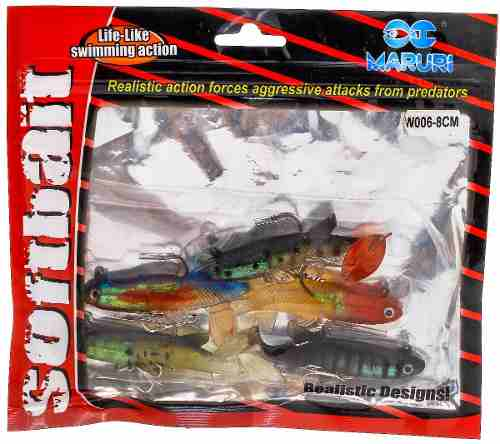 Isca Artificial Maruri Soft Bait LW006 - 8,0cm