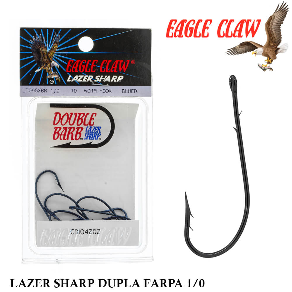 Anzol Eagle Claw Lazer Sharp Dupla Farpa LT095XBR 1/0