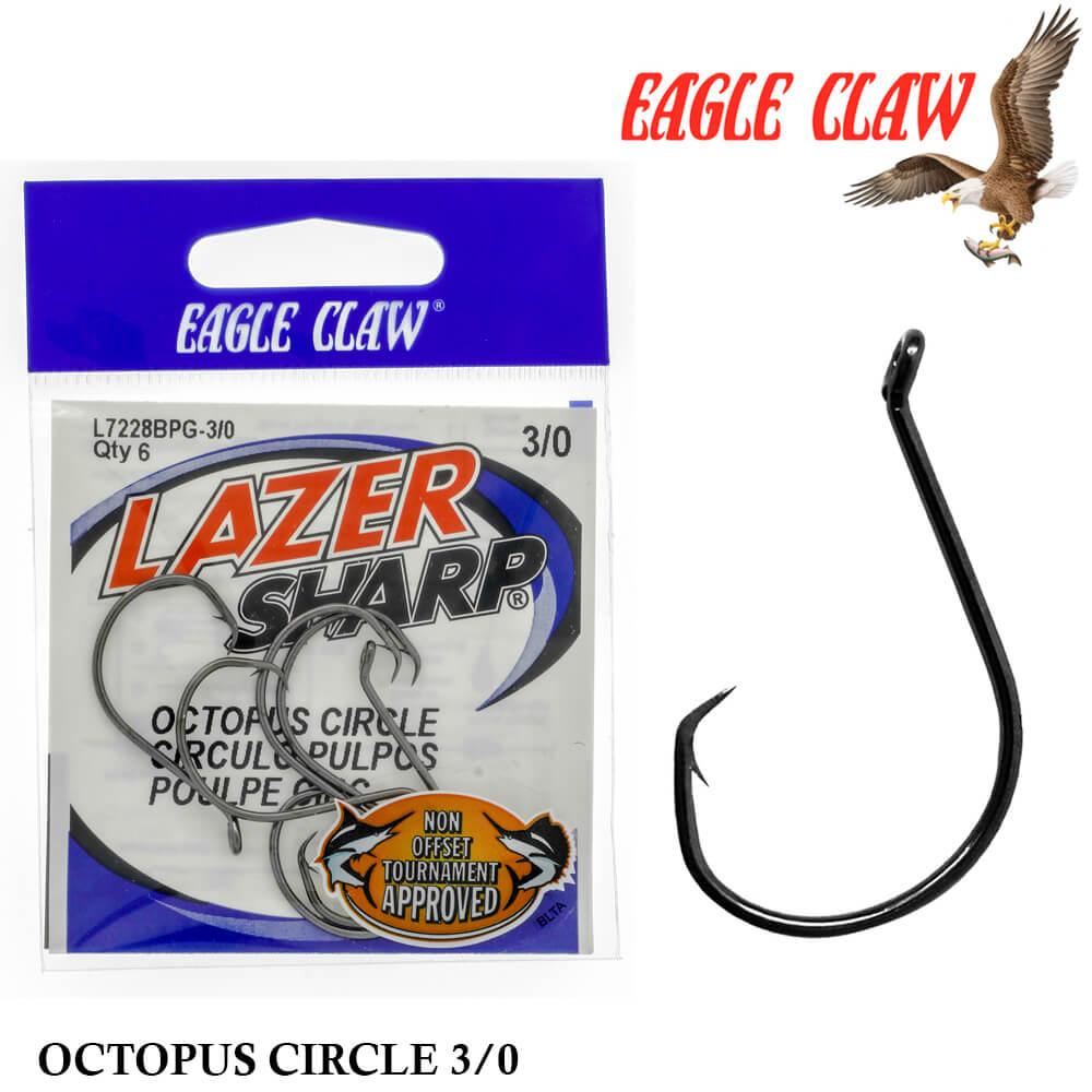 Anzol Eagle Claw Lazer Sharp Octopus Circle L7228BPG 3/0