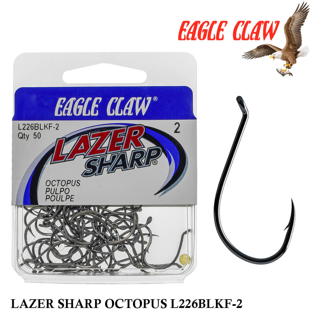 Anzol Eagle Claw Lazer Sharp Octopus L226BLKF-2 nº 2