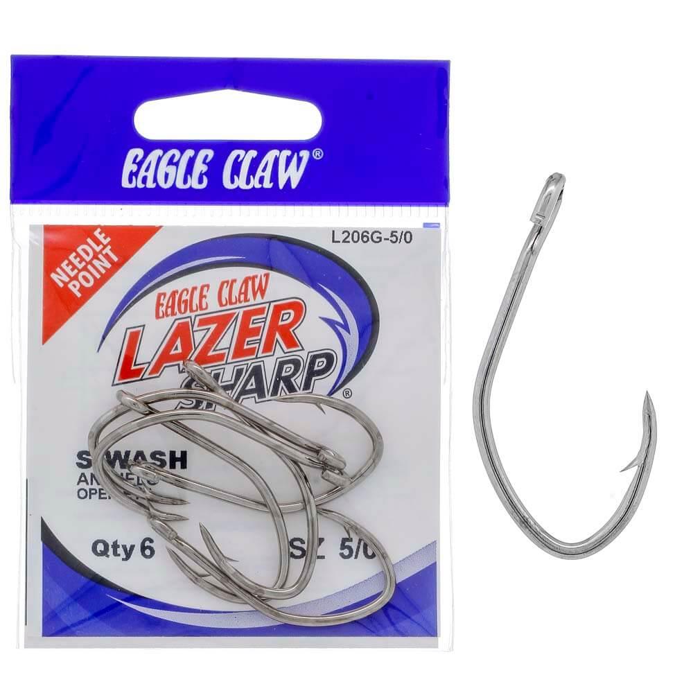Anzol Eagle Claw Lazer Sharp Siwash L206G 5/0 Nikel