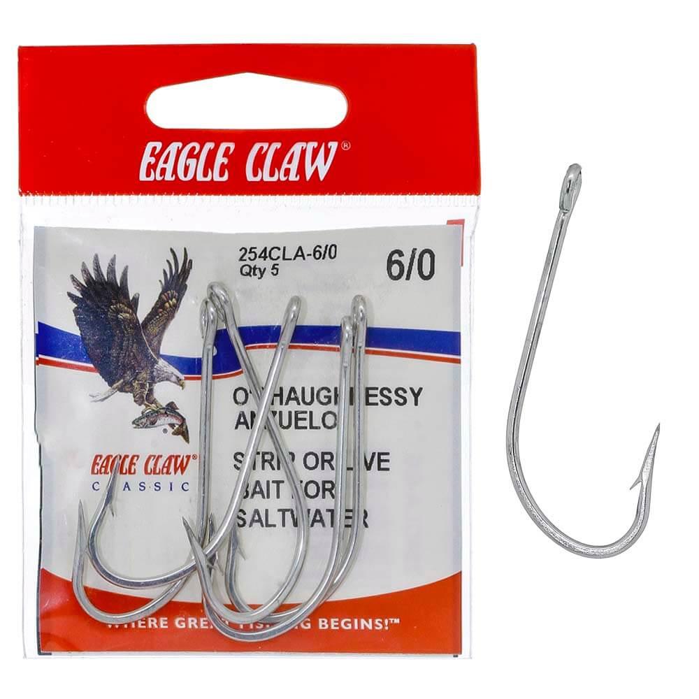 Anzol Eagle Claw O'Shaughnessy 254CLA 6/0 Nickel