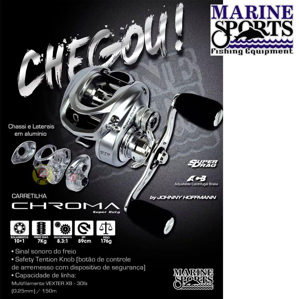 Carretilha Marine Sports Chroma Super Duty Shil 8.3 Esquerda