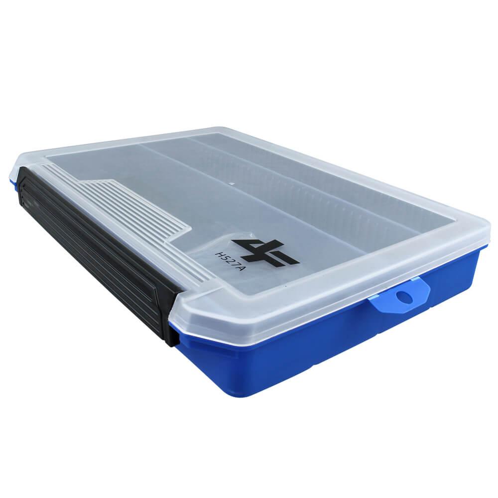 Estojo Albatroz H527A - Azul com 8 divisórias ajustáveis