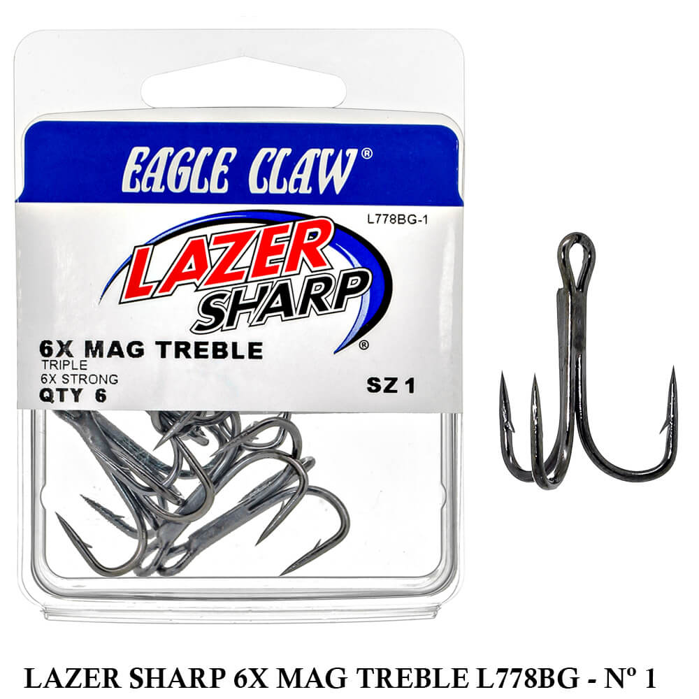 Garateia Eagle Claw Lazer Sharp 6x Mag Treble L778BG-1 Nº1 - 6x