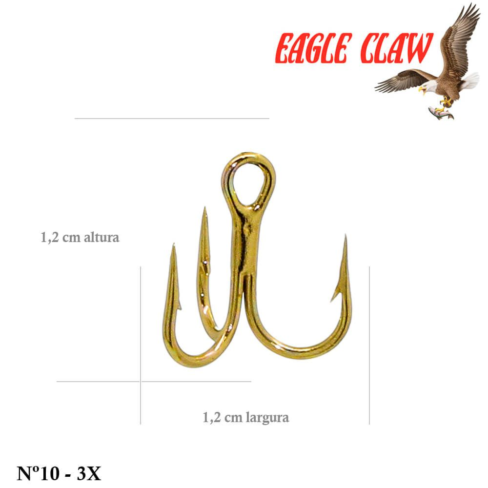Garateia Eagle Claw Lazer Sharp Modelo 956 - Nº 10 - 3x - Cor Gold