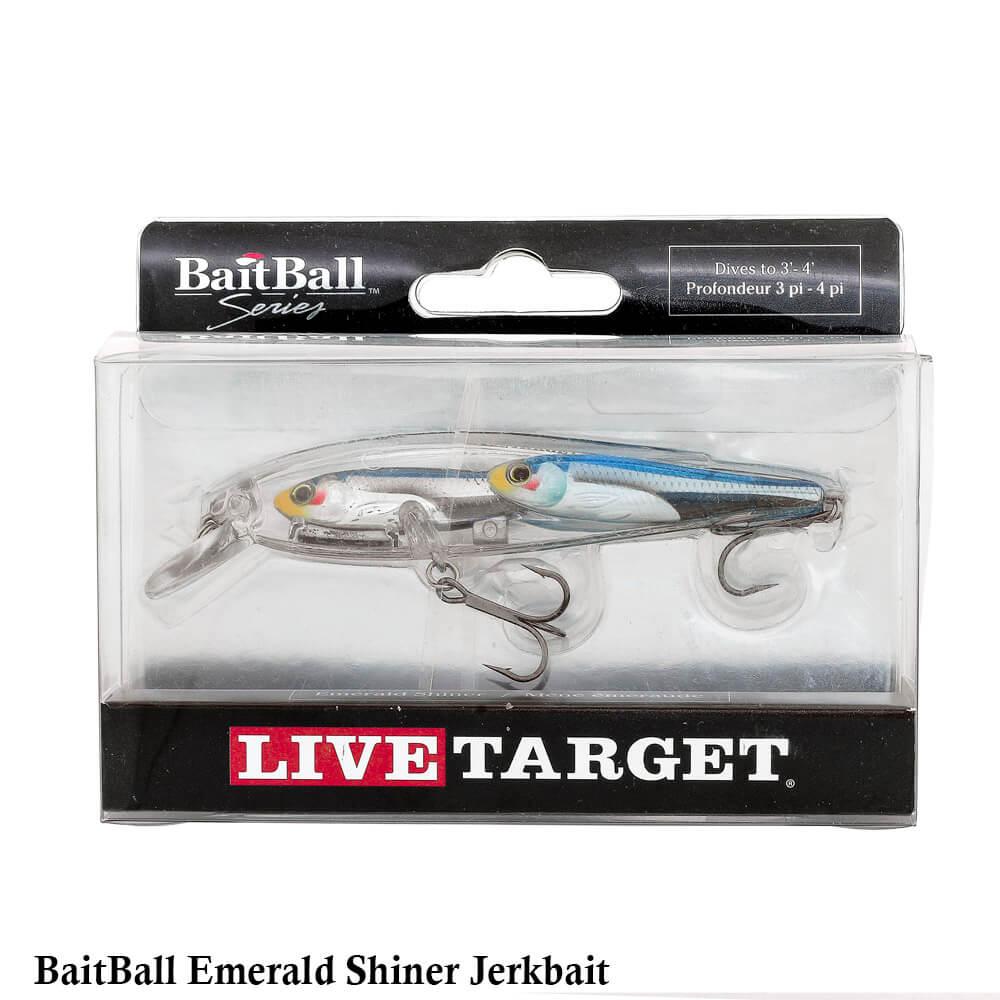 Isca Live Target Bait Ball Emerald Shiner Jerkbait | 9,0cm - 10,6gr