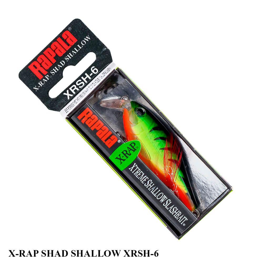 Isca Rapala X-Rap Shad Shallow XRSH-6 | 6,0 cm - 9,0 gr