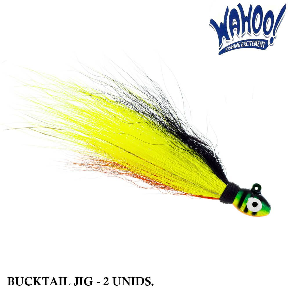 Isca Wahoo Bucktail Jig Fire Tiger | 11,0 gr - 2 unidades