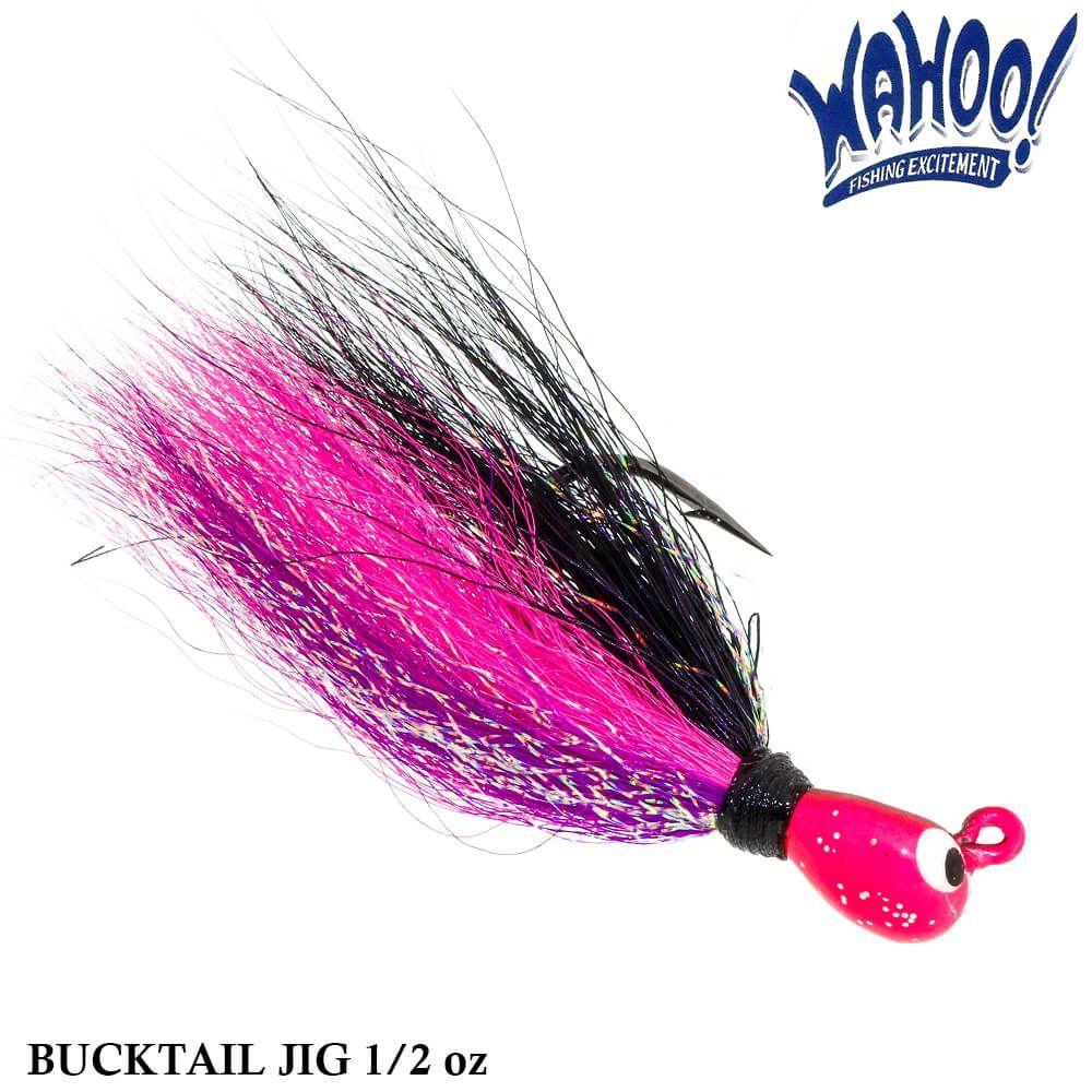 Isca Wahoo Bucktail Jig Pink/purple/blk Tinsel |14,0 gr