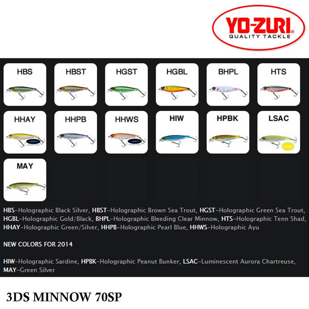 Isca Yo Zuri 3DS Minnow 70 SP | 7,0 cm - 7,0 gr