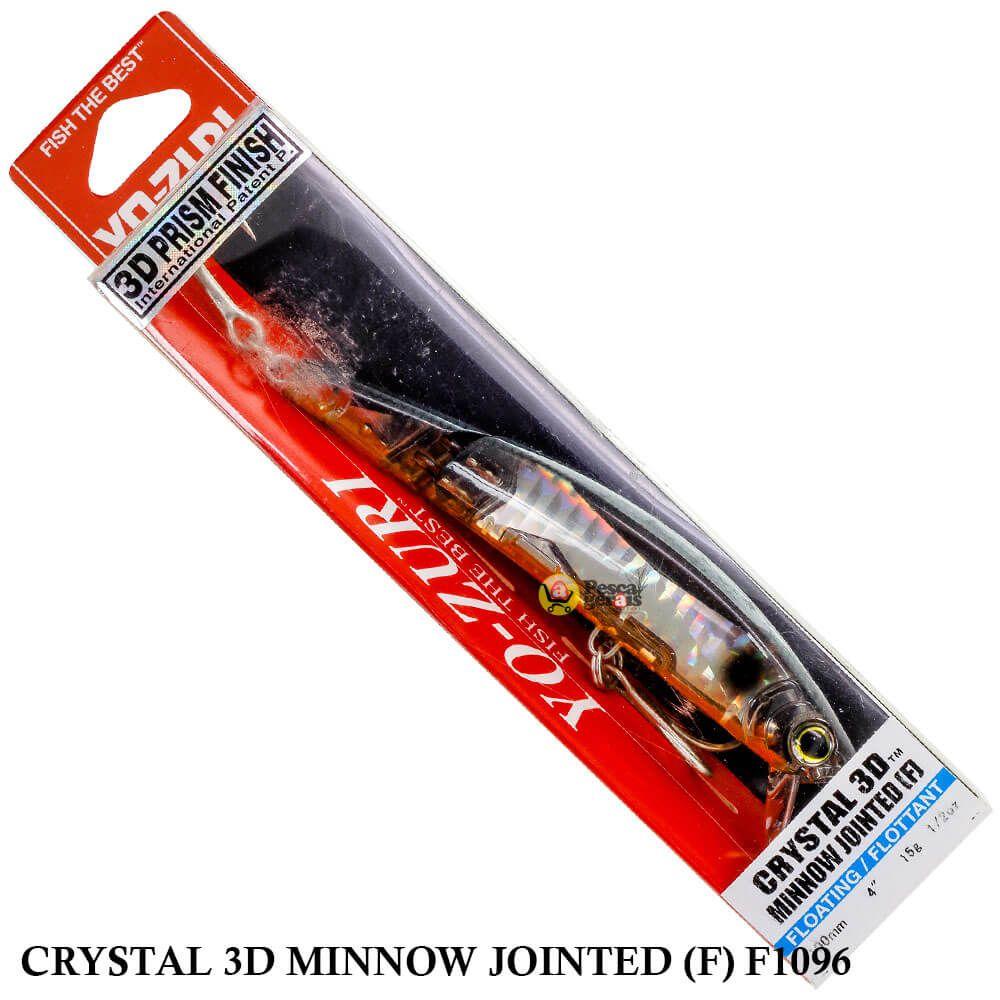 Isca Yo Zuri Crystal 3D Minnow Jointed (F) F1096 | 10,0 cm - 15,0 gr
