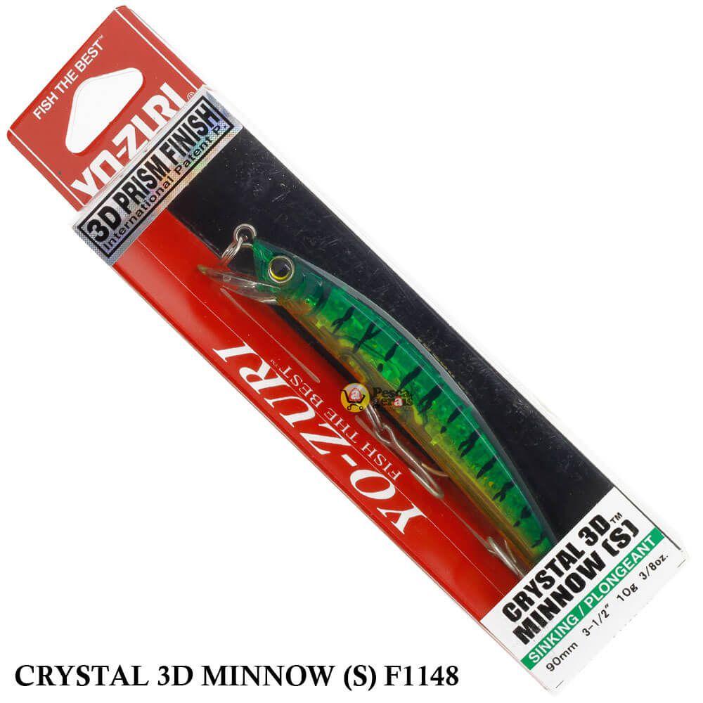 Isca Yo Zuri Crystal 3D Minnow (S) F1148 | 9,0 cm - 10,0 gr