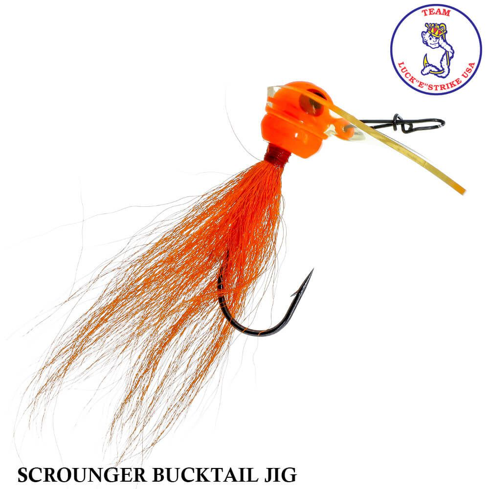 Jig Luck e Strike Scrounger Bucktail Jig Orange | 14,0 gr