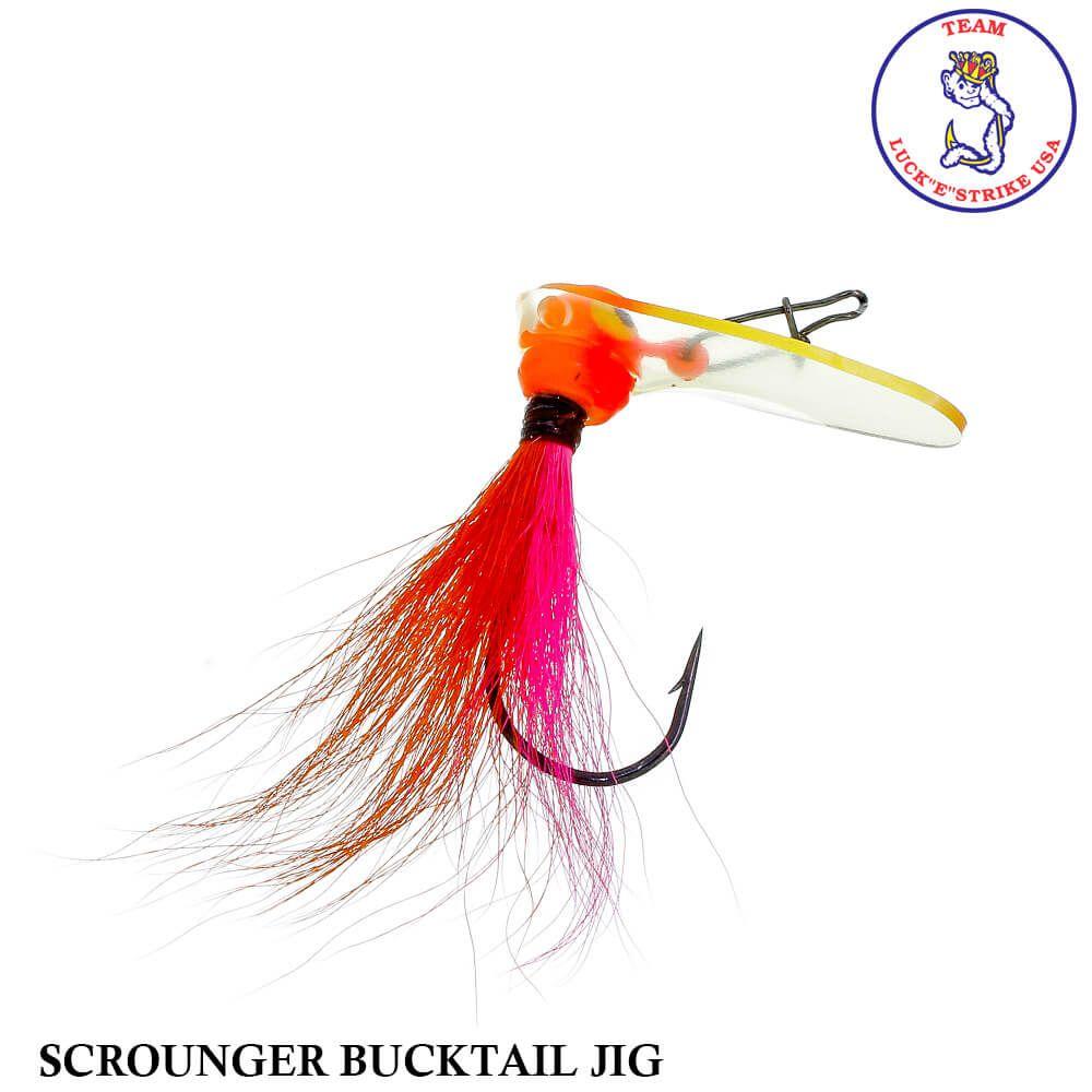 Jig Luck e Strike Scrounger Bucktail Jig PNK/ORG   8,0 gr