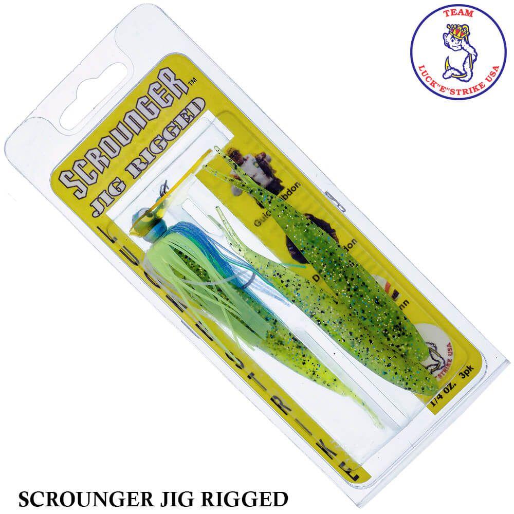 Jig Luck e Strike Scrounger Jing Rigged 762 Blue Chart | 14,0 gr