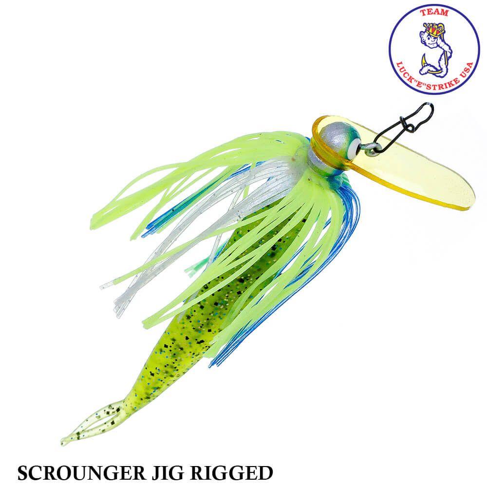 Jig Luck e Strike Scrounger Jing Rigged 762 Blue Chart   14,0 gr