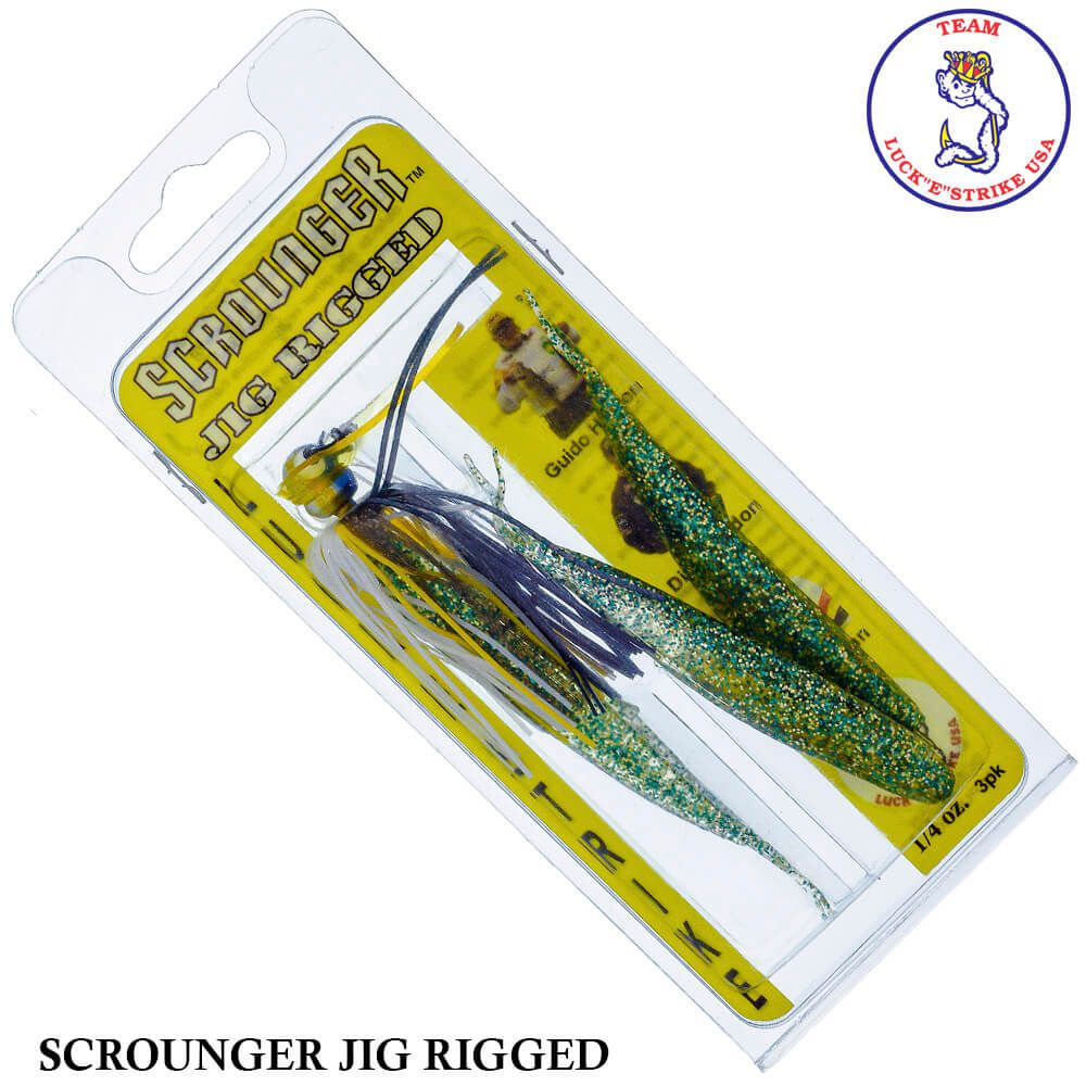 Jig Luck e Strike Scrounger Jing Rigged 763 Sexy Shad | 14,0 gr