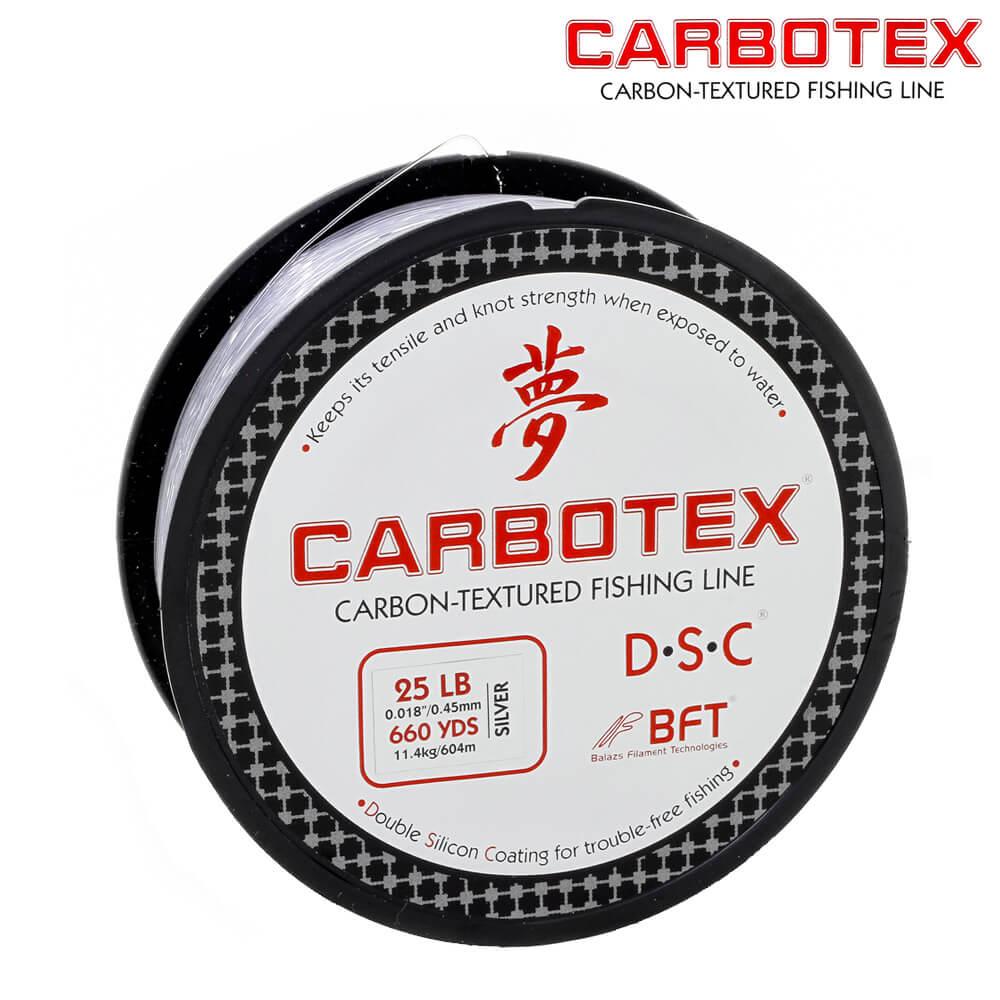 Linha Fluorocarbono Carbotex Carbon  25LB - 0,45mm - 604mts