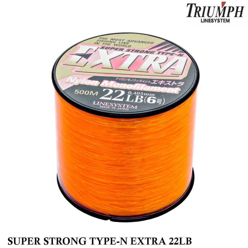 Linha Monofilamento Triumph Super Strong Extra 22LB 0,405mm 500 mts