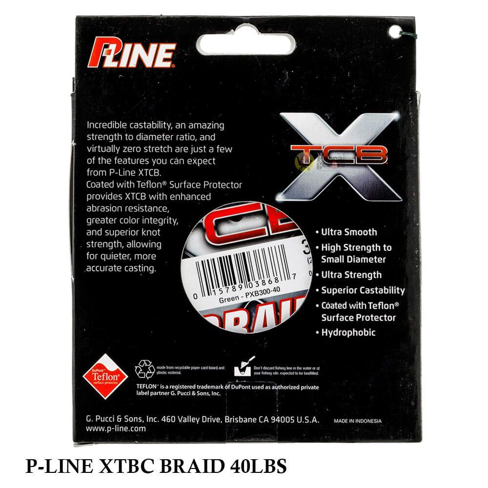 Linha Multifilamento P-LINE XTCB Braid 0,35mm 40Lb