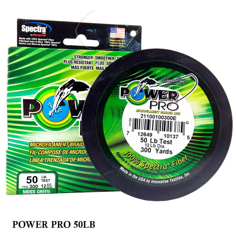 Linha Multifilamento Power Pro 50lb 0,36mm 300yds