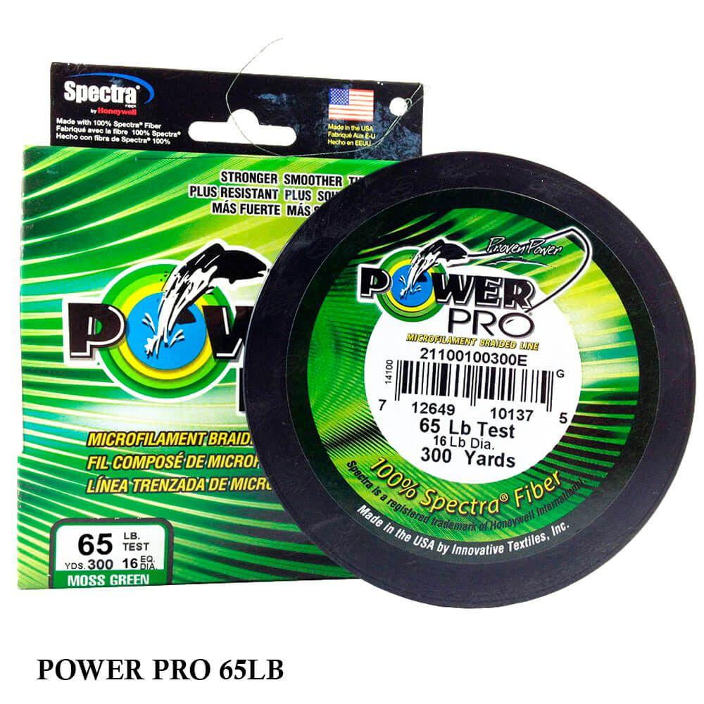 Linha Multifilamento Power Pro 65LB 0,41mm 300yds