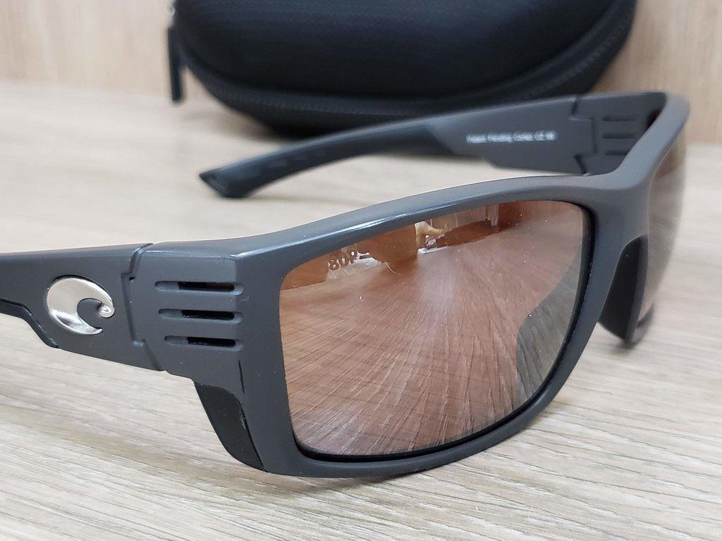 Óculos Costa Del Mar Cortez Matte Gray Frame Silver Mirror 580P CZ 98 OSCP