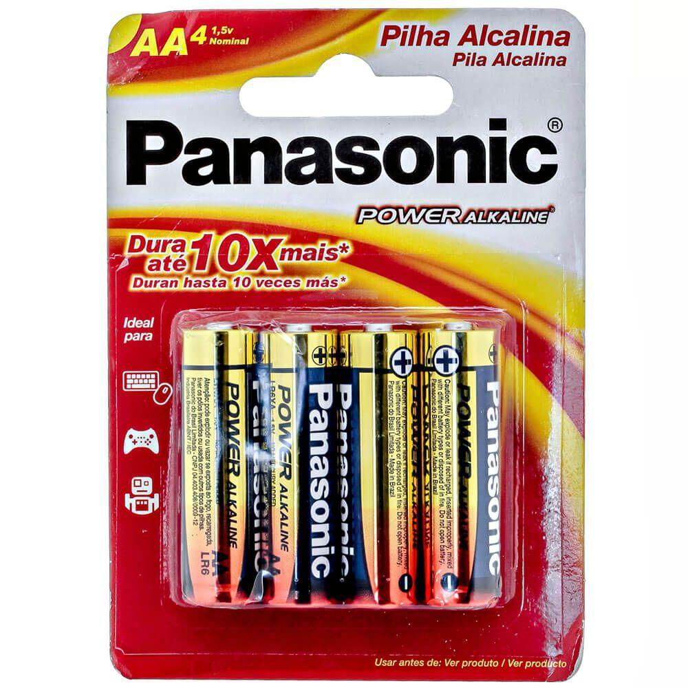 Pilha Alcalina Pequena AA Power Alkaline - LR6XAB-4B - (Cartela c/4 un)