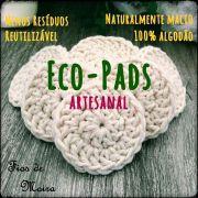 ECO PADS 7 cm - CROCHE - FIOS DE MOIRA - KIT COM 5 UNIDADES