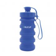 Garrafa Reutilizável de Silicone 400 Ml - Silicup Azul