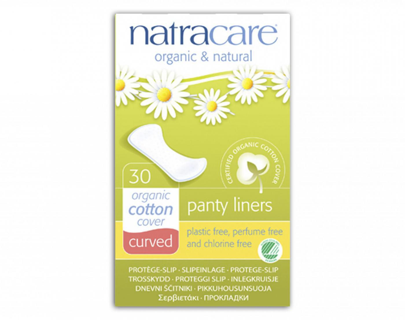 ABSORVENTE FEM. EXTERNO NATRACARE PANTY LINERS CURVADAS (LINERS CURVED) (30UN)