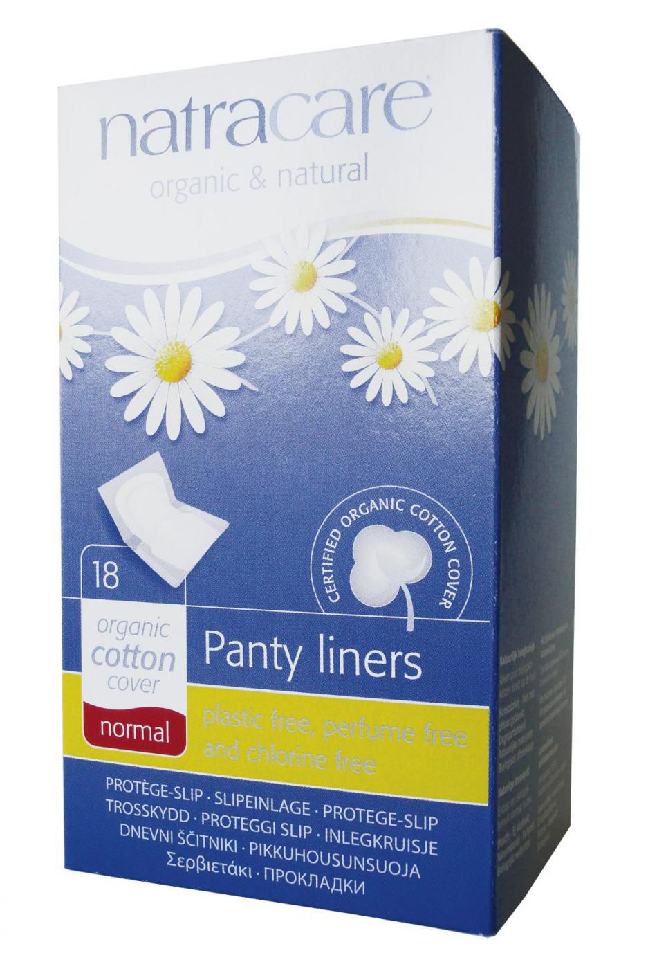 ABSORVENTE FEM. EXTERNO NATRACARE PANTY LINERS NORMAL  (WRAPPED) (18UN)