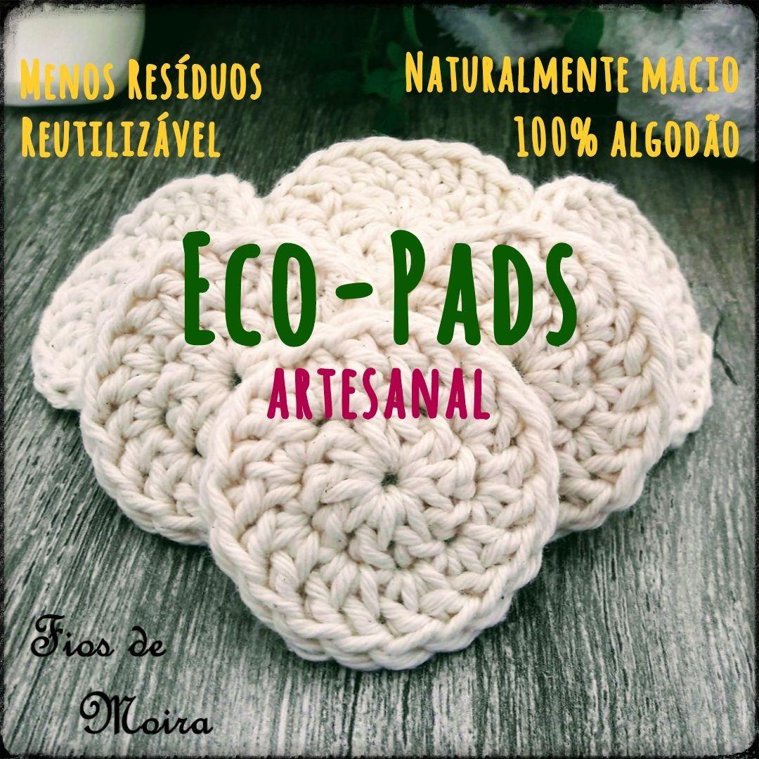 ECO PADS 6 cm - CROCHE - FIOS DE MOIRA - KIT COM 10 UNIDADES