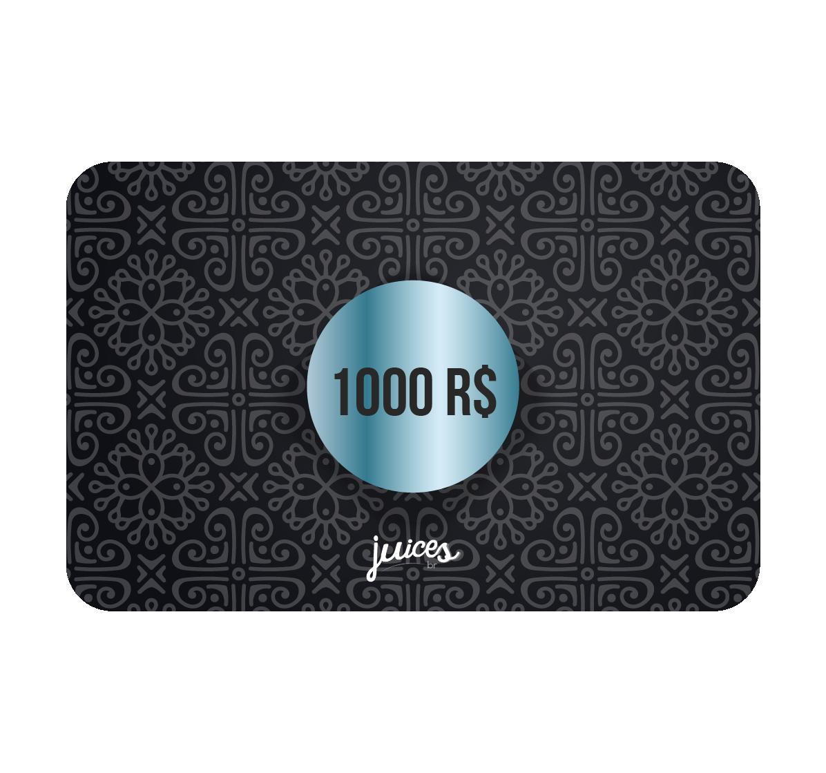 Cartão Presente Online - R$1000,00