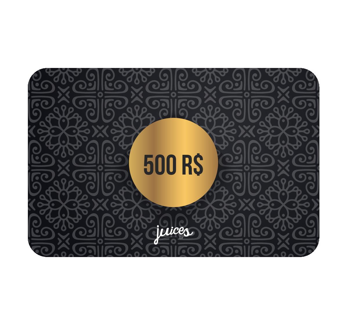 Cartão Presente Online - R$500,00